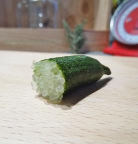 Billes de Citron caviar chartreuse